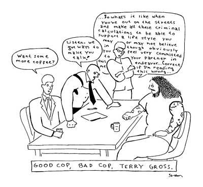 Title: Good Cop Art Print by Michael Shaw