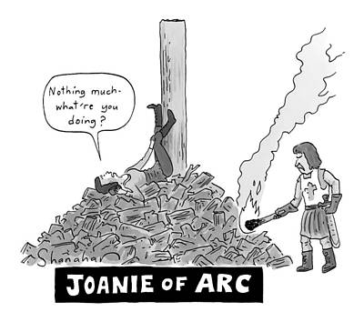 Speech Drawing - Title: Joanie Of Arc. A Teenage Joan Of Arc Rests by Danny Shanahan