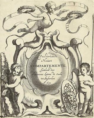 Gorgon Drawing - Title Journal Veelderhande Nieuwe Compartemente by Jacob Lutma And Johannes Lutma I And Frederik De Wit