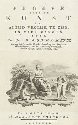 Title Page For P.j. Kasteleijn Art Print