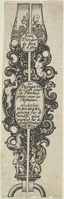 Theodor De Bry Drawing - Title Page, From Des Pendants De Cleffs by Johann Theodor de Bry