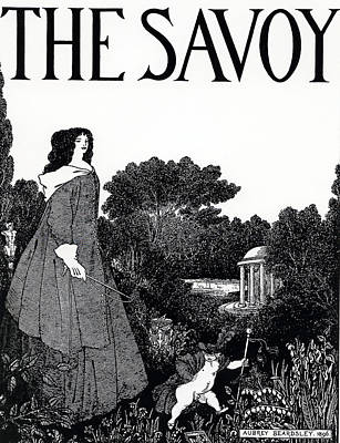 Ground Painting - Title Page From The Savoy by Aubrey Beardsley