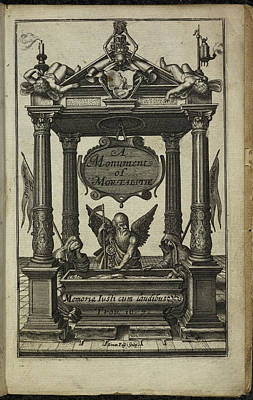 Book Title Photograph - Title Page Of A Monument Of Mortalitie by British Library