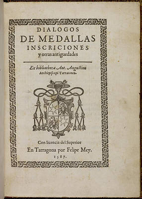 Book Title Photograph - Title Page Of 'dialogos De Medallas' by British Library