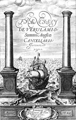 Title Page Of Instauratio Magna Art Print by Universal History Archive/uig