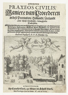 Data Drawing - Title Page Of Maniere Of Litigation With A View by Jacob Savery I And Paulus Merula And Cornelis Claesz