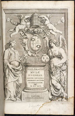 Book Title Photograph - Title Page Of Philomathi Musae Juvenilis by British Library