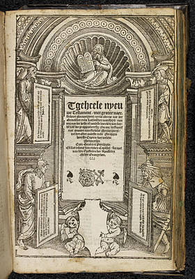 Testament Photograph - Title Page To The New Testament by British Library