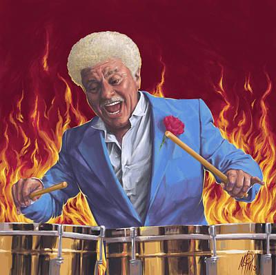 Tito Puente / Mambo Diablo Print by Miguel Osorio
