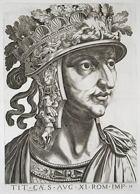 Roman Emperor Drawing - Titus Caesar , 1596 by Italian School
