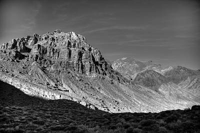 Titus Canyon Peak Art Print by Peter Tellone