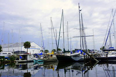 Photograph - Titusville Marina by Laurie Perry