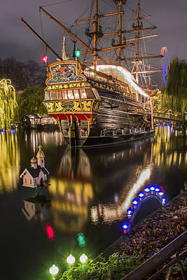 Tall Ship Photograph - Tivoli By Night by Carol Japp