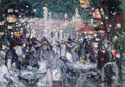 A Summer Evening Painting - Tivoli Gardens by James Kay