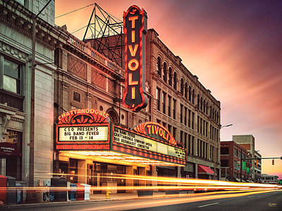 Photograph - Tivoli Theatre Valentines Day Sunset by Steven Llorca