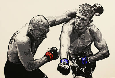 Painting - Tj Dillashaw Vs. Barao by Geo Thomson