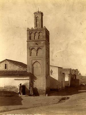 Berber Woman Photograph - Tlemcen Djama Mosque Bab Zir, Algiers, Neurdein Brothers by Litz Collection