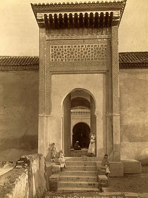 Berber Woman Photograph - Tlemcen, Portal Of The Mosque Of Sidi Haloui, Algiers by Litz Collection