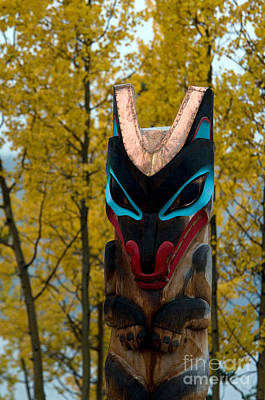 Tlingit Totem Art Print by Mark Newman
