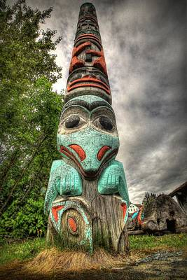 Tlingit Totem Art Print by Ryan Smith
