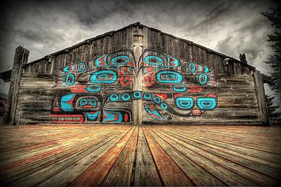 Tlingit Tribal House Haines Alaska Art Print by Ryan Smith