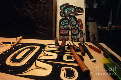 Tlingit Workshop Art Print by Ron Sanford