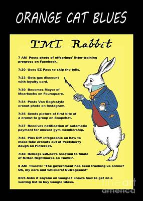 Twitter Digital Art - Tmi Rabbit by Pet Serrano