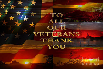 Star Spangled Banner Digital Art - To All Our Veterans by Beverly Guilliams