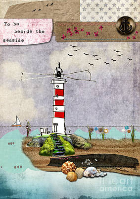 Tall Ship Mixed Media - To Be Beside The Seaside by Gillian Singleton