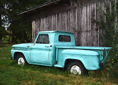 Painting - To Be Country - Vintage Vehicle Art by Jordan Blackstone