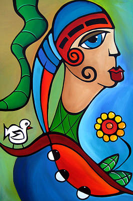 Dog Abstract Art Painting - To Be Free By Fidostudio by Tom Fedro - Fidostudio