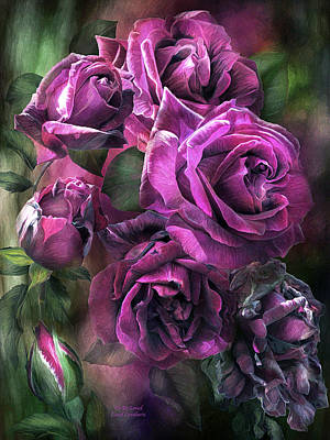 Mixed Media - To Be Loved - Purple Rose by Carol Cavalaris