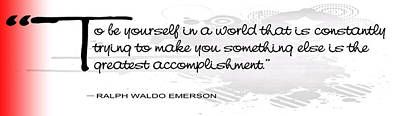 Emerson Digital Art - To Be Yourself .  .  . by Daniel Hagerman