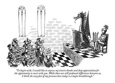 History Drawing - To Begin by Warren Miller