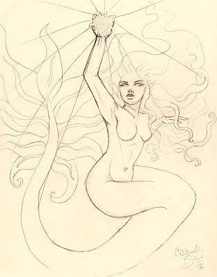 ...to Catch A Falling Star... Sketch Art Print by Coriander  Shea