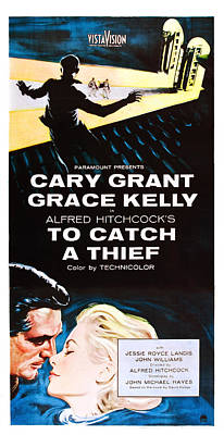 To Catch A Thief, Bottom From Left Cary Art Print by Everett