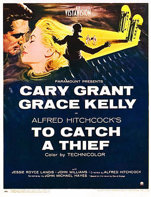 To Catch A Thief, L-r Cary Grant, Grace Art Print by Everett