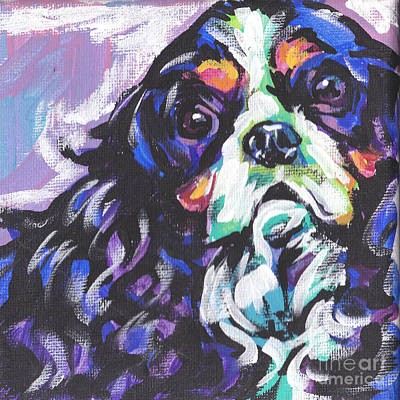 Dog Portrait Painting - To Cav Or Cav Not by Lea S
