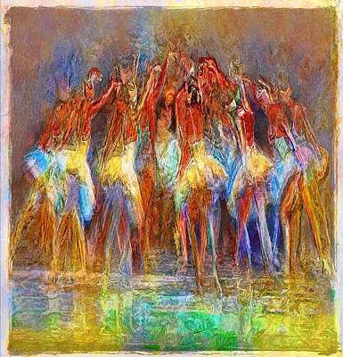 Rhythm And Blues Digital Art - To Dance Together... by Lee Haxton