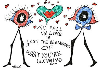 Love Poetry Drawing - To Fall In Love by Genia GgXpress