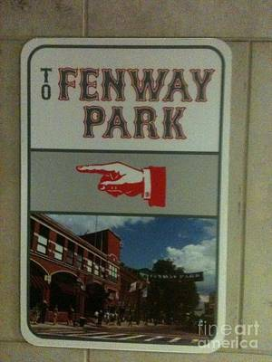 To Fenway Park Art Print