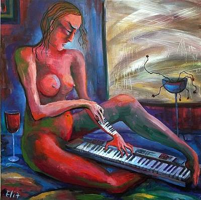 Painting - To Find The Melody - 1 by Elisheva Nesis