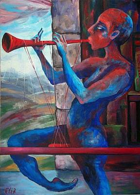 Painting - To Find The Melody - 2 by Elisheva Nesis