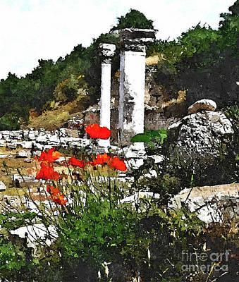 Ruins Mixed Media - To Greece With Love.. by Binka Kirova