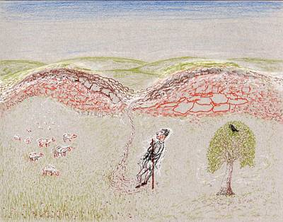 Drawing - To Green Pastures by Jim Taylor