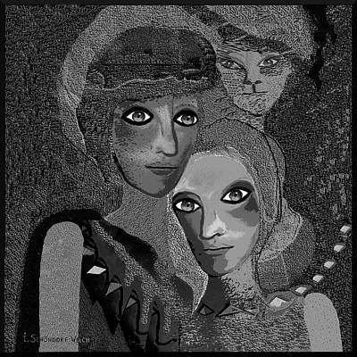 Inuu Digital Art - To  Lean On - 451 by Irmgard Schoendorf Welch
