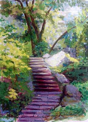 Painting - To Linden Terrace-fort Tryon Park by Nicolas Bouteneff