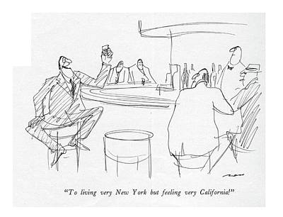 Beer Drawing - To Living Very New York But Feeling by Al Ross