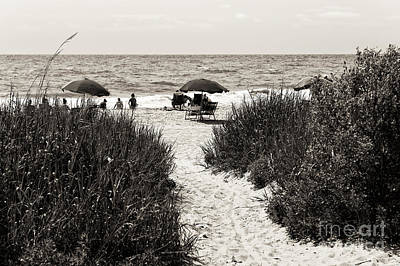 Photograph - To Myrtle Beach Mono by John Rizzuto