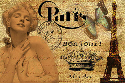Photograph - To Paris With Marilyn by Greg Sharpe
